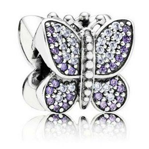 Pandora 925 Sterling Silver Shiny Butterfly Pendan